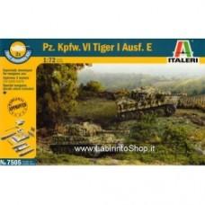 ITALERI 7505 - PZ.KPFW.VI TIGER I (FAST ASS.) 2PCS 1/72 Plastic Model Kit