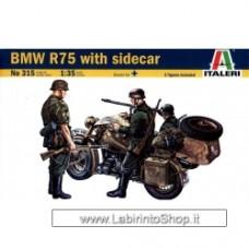 ITALERI 315 BMW R75 WITH SIDECAR 1/35