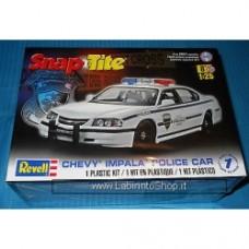 Revell Chevy Impala Police Car-Snap Tite-1/25