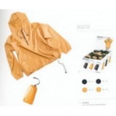 giubbotino ripiegabile anti pioggia beige/oro