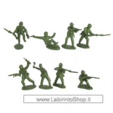 TSSD WW2 United States Marines: 16 GREEN 1:32 Plastic Army Men Figures