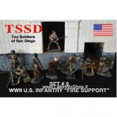 WWII U.S. MARINES - OD GREEN - 16 FIGURES IN 8 POSES 1:32