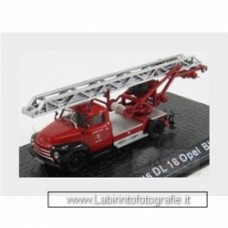 Opel Blitz Dl18 Magirus Truck Scala Fire Engine 1960 Red Black Silver