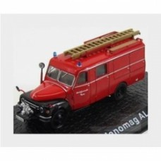 Hanomag Lf8 Al 28 Truck Werksfeuerwehr Toging Fire Engine 1958 Red Black