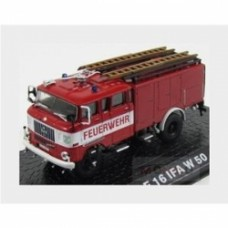 Ifa W50 Tlf16 Tanker Truck Feuerwehr Fire Engine 1965 Red White