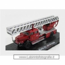 Krupp Metz Dl52 Truck Scala Fire Engine 1955 Red Silver