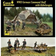Caesar Miniatures 1 72 095 WWII German Command Staff W Kubelwagen 10 Figures