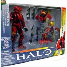 halo armor pack spartan soldier scout box set case