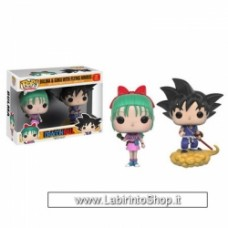 Dragon Ball Pop! Vinyl 2 Pack - Bulma and Goku with Flying Nimbus