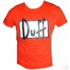 Simpsosn duff t-shirt rossa taglia L