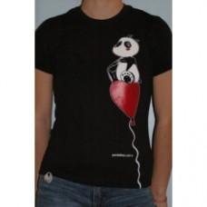 A panda piace cuore t-shirt