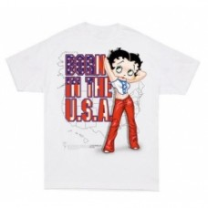 betty boop born in the usa t-shirt