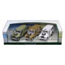 Cararama Land Rover Military 3 cars 1/43 Diecast Model