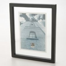 floater frame x foto 12x18 vetro su vetro bordo nero
