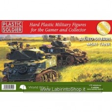 PLASTIC SOLDIER CO: 1/72 Easy Assembly Stuart M5 Tank