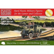 PLASTIC SOLDIER CO: 1/72 British and Commonwealth CMP 15 cwt Truck