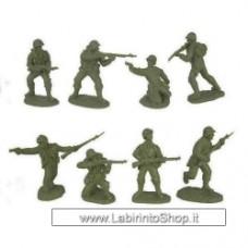 TSSD WW2 United States  Infantry Set 3 1:32 Plastic Army Men Figure