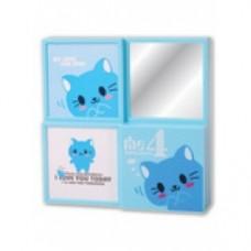 portafoto con specchi a 4 spazi gatto