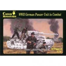 Caesar Miniatures 1/72 H085 WWII German Panzer Unit in Combat
