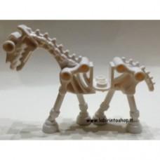 Cavallo scheletrico 01 bianco