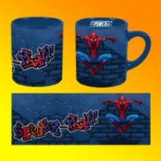 spiderman mug graffiti
