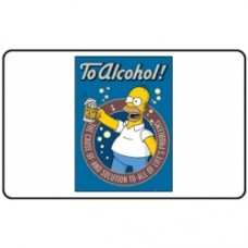 simpsons t-shirt to alcohol