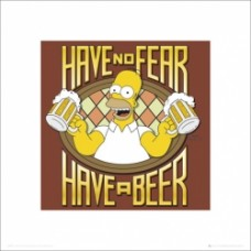 simpsons t-shirt no fear have a beer taglia L