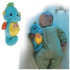 Ocean Wonders Soothe and Glow Blue Seahorse Plush