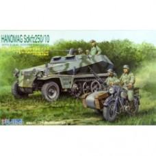 """Fujimi SWA17 Special World Armor """"hanomag Sdkfz250 10"""" 1 76 Scale Kit"""
