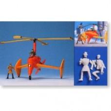 Lupin III and Autogyro (Plastic model)