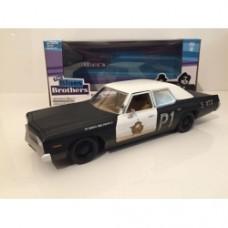 Blues Brothers 1974 DODGE MONACO Bluesmobile Greenlight 84011 SCALA 1:24