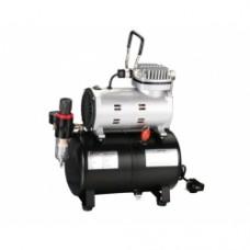 SOFT AIR: compressore a pistone per aerografia da 1/4 Hp con serbatoio aria da 3 litri