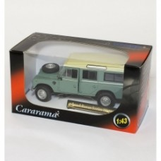 Cararama Diecast Model - Green Land Rover Series III 109 - 1:43 Scale