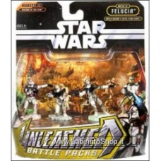 Hasbro Unleashead Battle of Felucia Clone Commander Bly and Clone Troopers