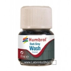 Humbrol 28ml Enamel Wash (Dark Grey)