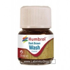 Humbrol 28ml Enamel Wash (Dark Brown)