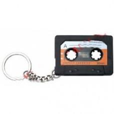 portachiavi cassetta con mini registratore vocale