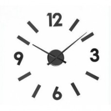 orologio parete numeri neri adesivi