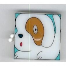 metro a nastro cane con tasto per rientro automatico
