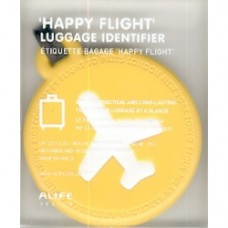 targhetta identificativa bagaglio gialla