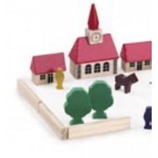 villagio in legno in retina