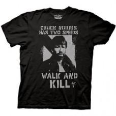 chuck norris two speeds t-shirt