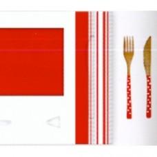 Set 2 piatti melamina con posate confezione regalo
