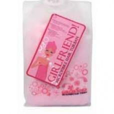 turbante rosa in microfibra