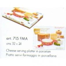 Easy life - piatto da portata in porcellana 32.5x24 formaggio