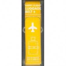 Cintura per valigia gialla