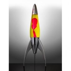mathmos lava lamp telestar yellow/red