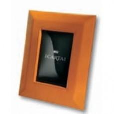 Cornice pelle arancione foto 13x18