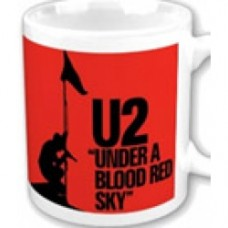 U2 Mug under blood red sky