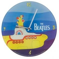 beatles yellow submarine glass wall clock